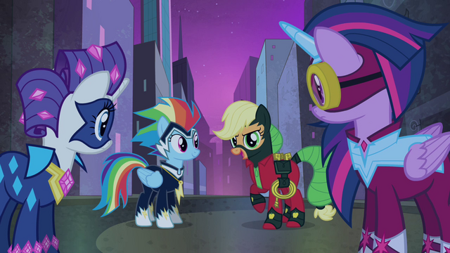 File:Applejack tells Spike to lead the way S4E06.png