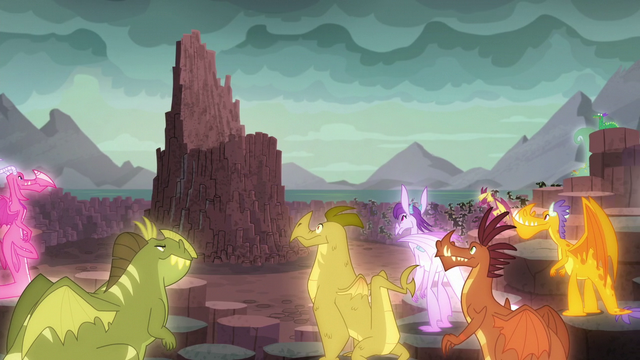 File:Dragons gathering around S6E5.png