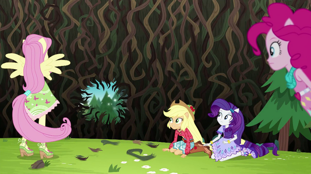 File:Pinkie's sprinkle jar makes large hole in the bramble wall EG4.png