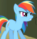 Rainbow Dash Earth pony ID S2E01