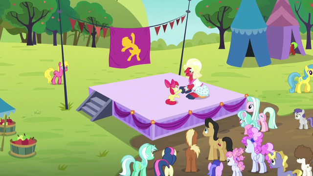 File:Apple Bloom and Orchard Blossom doing Sisterhooves cheer S5E17.png