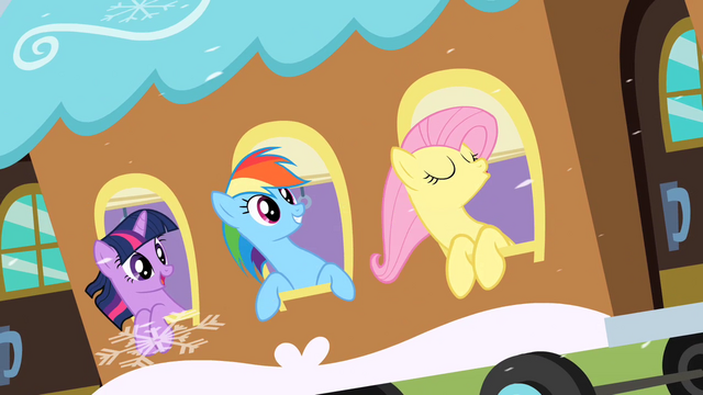 File:Fluttershy Shouting Woohoo S2E11.png