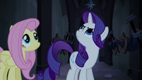 Fluttershy and Rarity in Hall of Hooves S4E03