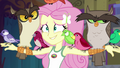 """Fluttershy embarrassed """"yes?"""" EG4.png"""