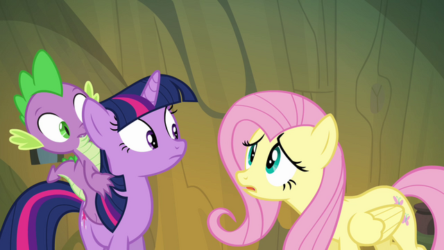 File:Fluttershy worried that they might lose the real Pinkie S3E03.png