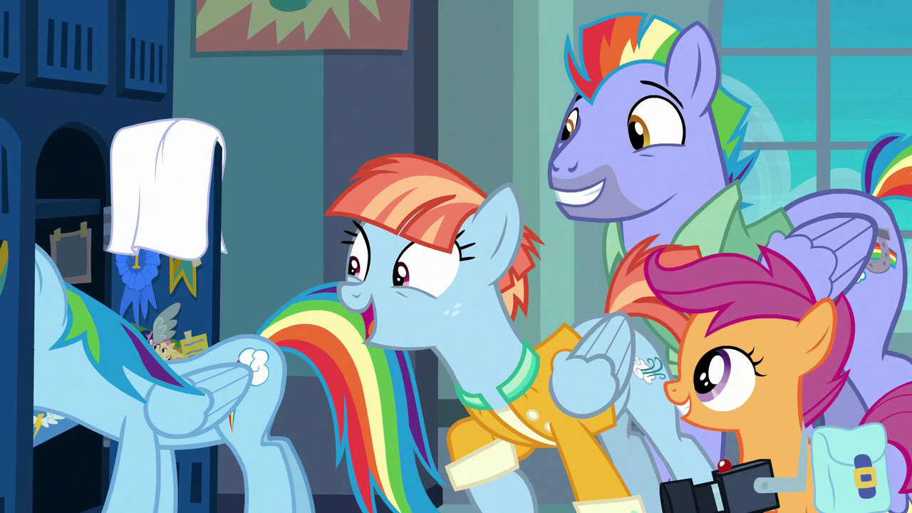 image rainbows parents and scootaloo appear in locker