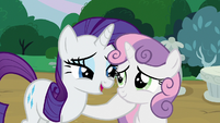 Rarity very proud of Sweetie Belle S7E6