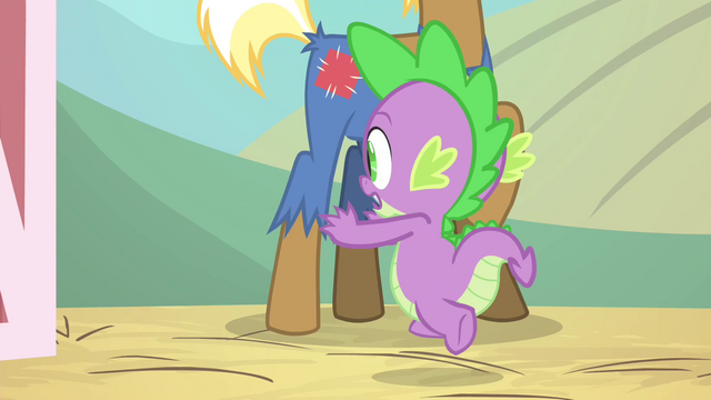 File:Spike running out of the barn S4E13.png