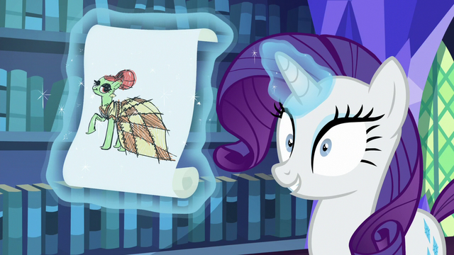 File:Rarity levitating a drawing of a dress S6E21.png