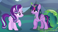 Twilight Sparkle rising to her hooves S6E26