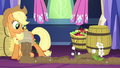 AJ pouring fertilizer in castle while flowers grow S5E03.png