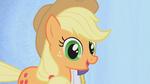 Applejack smiling with big eyes S01E14