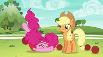 Pinkie falls over onto the ground S6E18