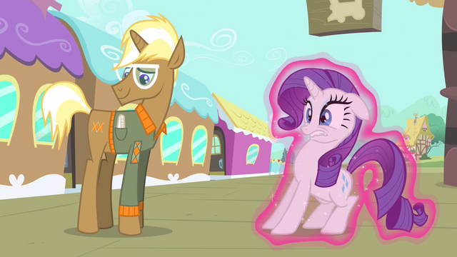 File:Rarity being moved towards Trenderhoof S4E13.png
