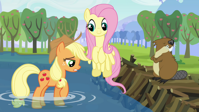 File:Applejack apologizes to the beaver S03E10.png