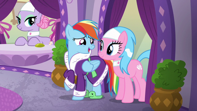 """File:Rainbow """"without my pampered muscle massage"""" S6E10.png"""