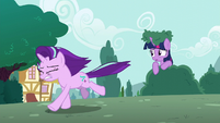 Starlight running away from Twilight S6E6