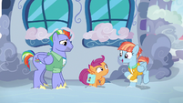 Windy Whistles introduces herself to Scootaloo S7E7