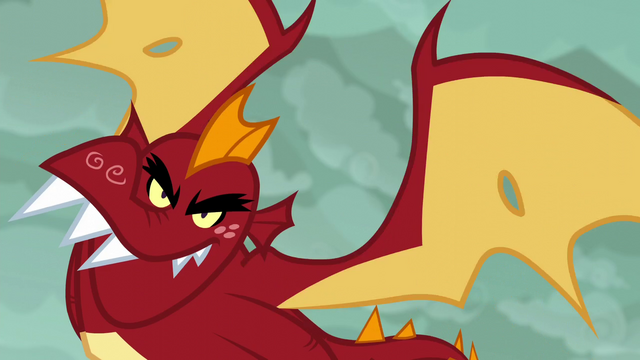 File:Garble flying the Gauntlet of Fire S6E5.png