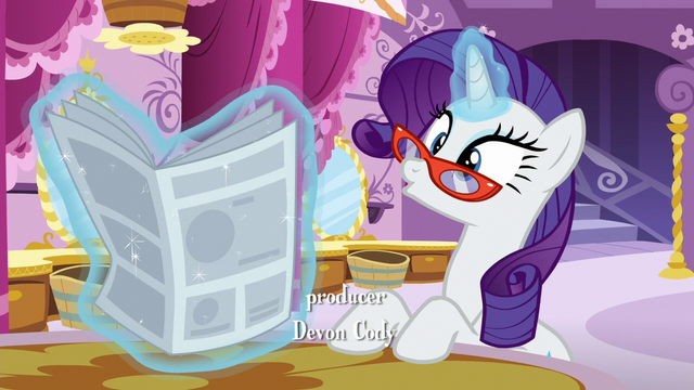 "File:Rarity ""what I'm sure is a stellar review"" S6E9.png"