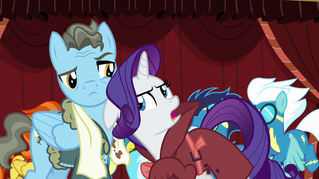 "File:Rarity ""you would break his long-distance Wonderbolt record!"" S5E15.png"