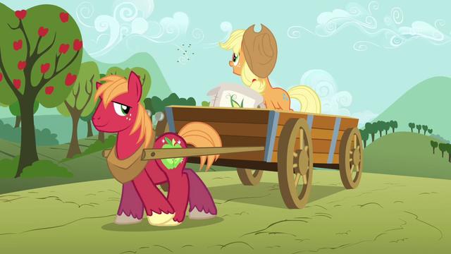 File:Applejack and Big Mac planting seeds S03E13.png