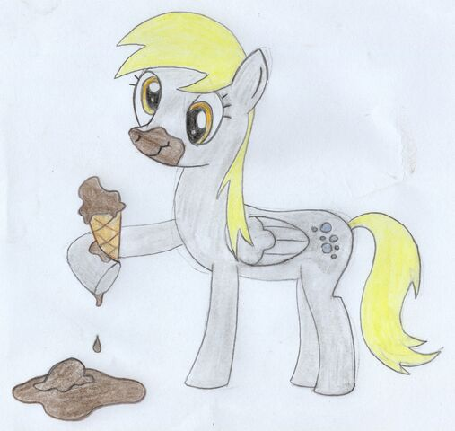 File:FANMADE SilverBolt Derpy Eating Ice Cream.jpg