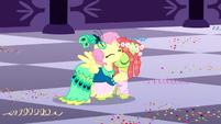 Fluttershy hugging Tree Hugger S5E7