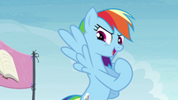 "Rainbow Dash ""I'm gonna be the first!"" S4E22"