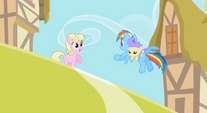 Rainbow carrying a baby on her back S2E8