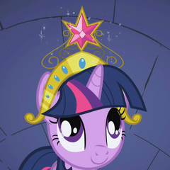 Twilight Sparkle sees Element of Harmony S1E02