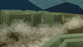 Blocks of hedges sinking into the ground S2E01.png