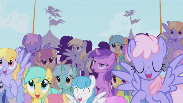 File:Crowd cheering for Rainbow Dash S1E03.png
