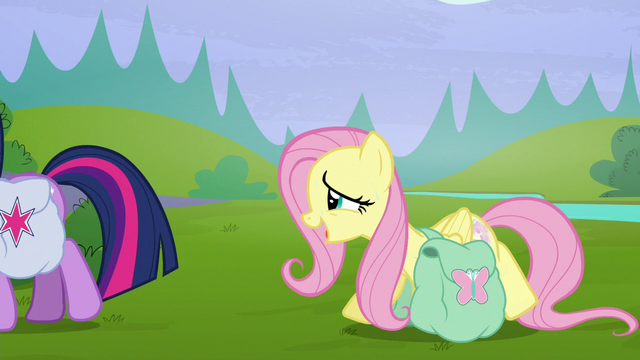 "File:Fluttershy straining ""we'll find out when we get home"" S5E23.png"