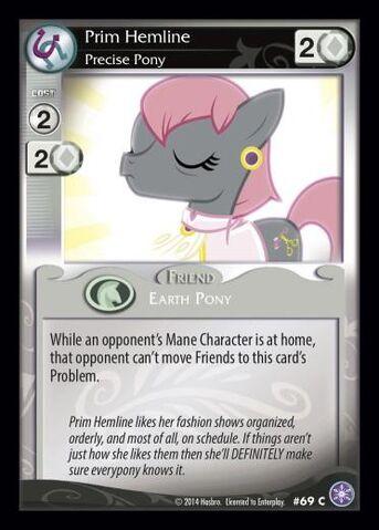 File:Prim Hemline, Precise Pony card MLP CCG.jpg