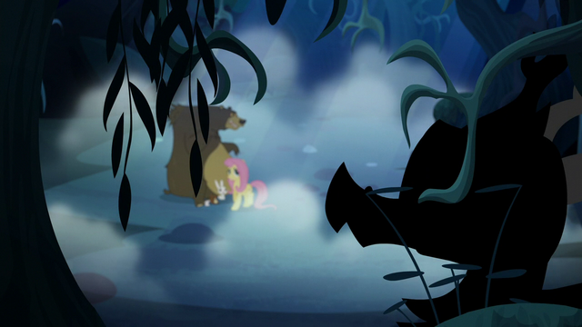 File:Creature appears before Fluttershy and animals S6E15.png