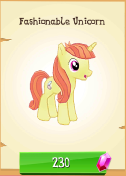 File:Fashionable Unicorn MLP Gameloft.png