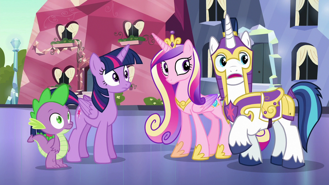 """File:Shining Armor """"we posted the extra guards"""" S6E16.png"""