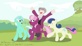Edgeworth's happy pony time by MrPoniator