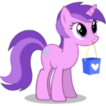 Sparkler holding a bag in her mouth