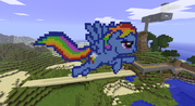 FANMADE Rainbow Dash Minecraft v2