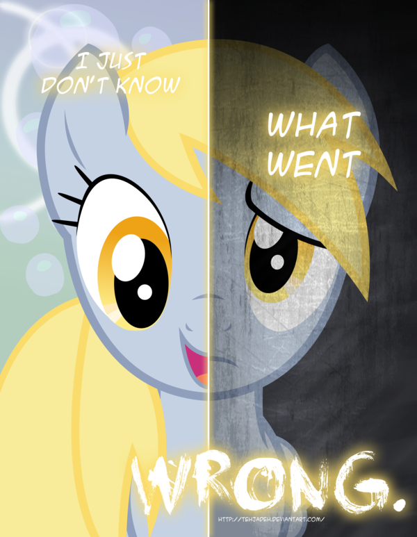 Elements Of Artistic Expression : Image mlp two sides of derpy revamped by tehjadeh