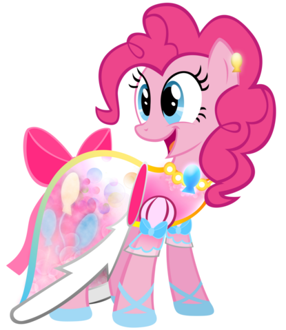 File:Pinkie Pie in a dress complete with a necklace and bow.png