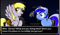 Colgate meeting Derpy Hooves in the caves.png
