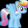 Rainbow Dash as a Crystal pony.png