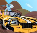 Ponies in vehicles