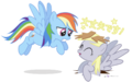 512728 safe rainbow+dash derpy+hooves japanese artist-colon-dm29.png