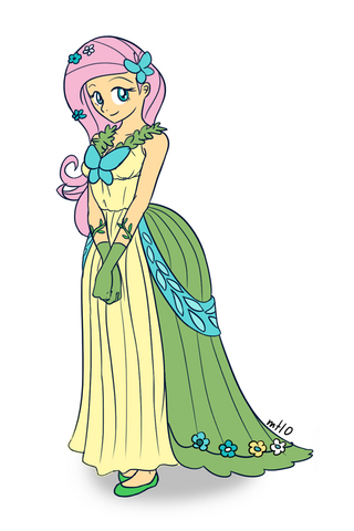 File:Humanized fluttershy in dress by empty 10-d39ve23.png