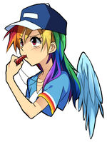 Coach Rainbow Dash by megarexetera