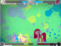 Fluttershy and Pinkie Pie unknown stage Fighting is Magic.jpg